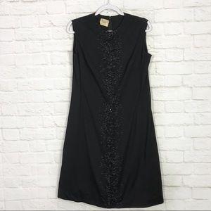 Luisa Spagnoli Wool Sleevless Beaded Career Dress